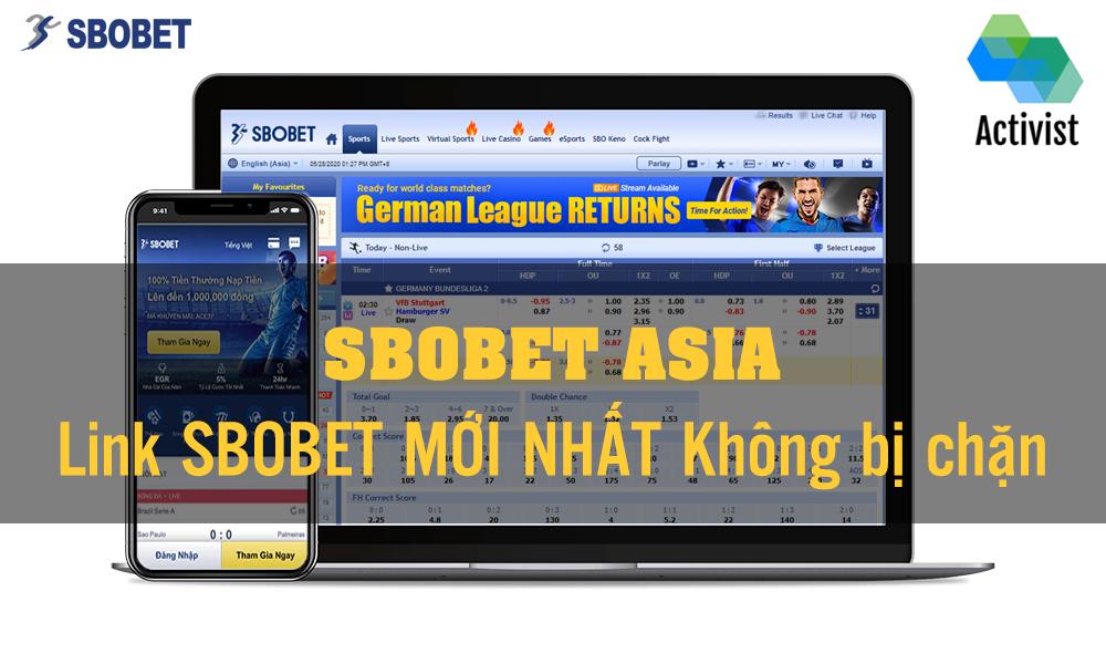 Link Sbobet Asia Mới nhất không bị chặn