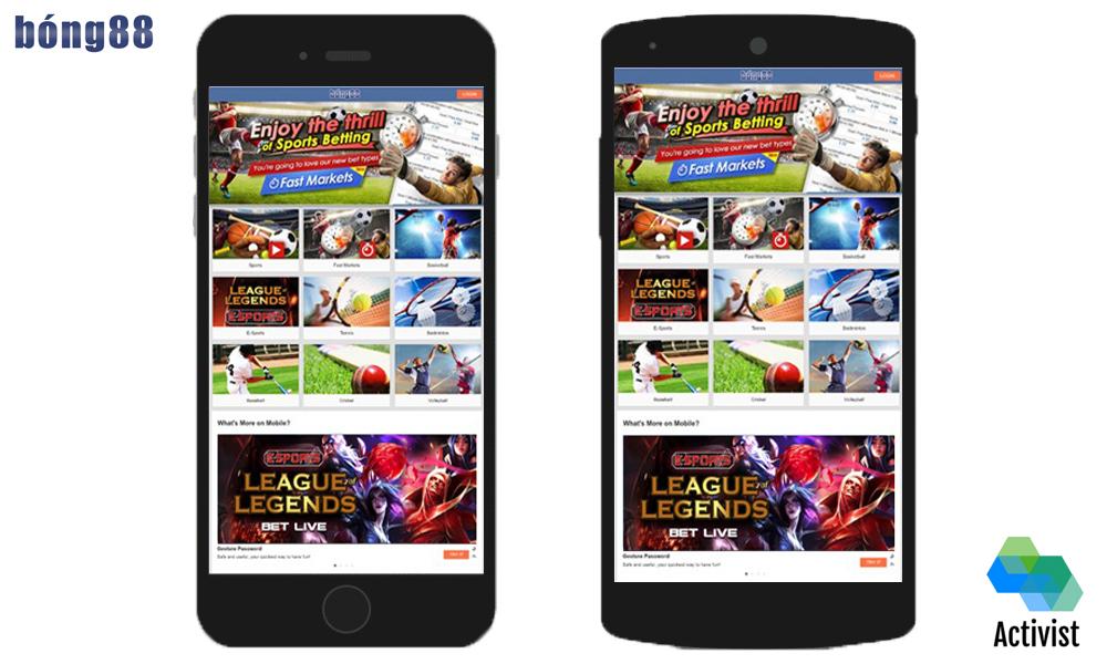 Tải app Bong88 cho Android